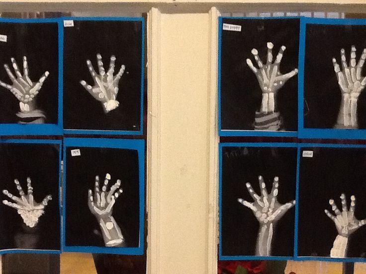 Workshop Kopie hand en dan de botten erop verven.