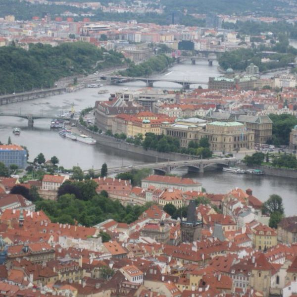 A great hike up Petrin Hill, followed by a climb to the top of the needle - a miniature Eiffel Tower - yields huge rewards in a panoramic view of Prague.