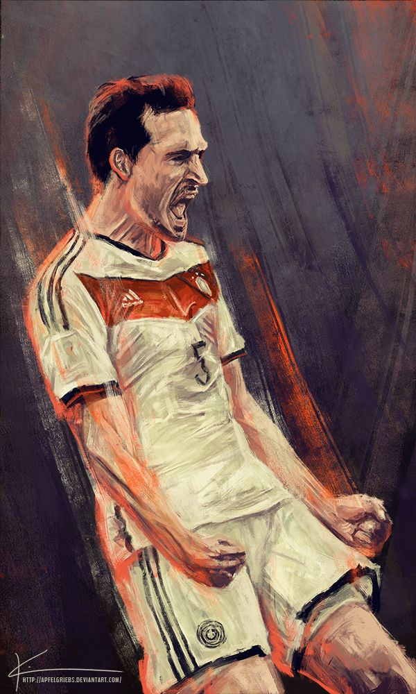 Paintings Of Germanys Players Celebrating Its World Cup Victory by Kim Christensen 2014 04 Paintings Of Germany's Players celebrating its Wo...