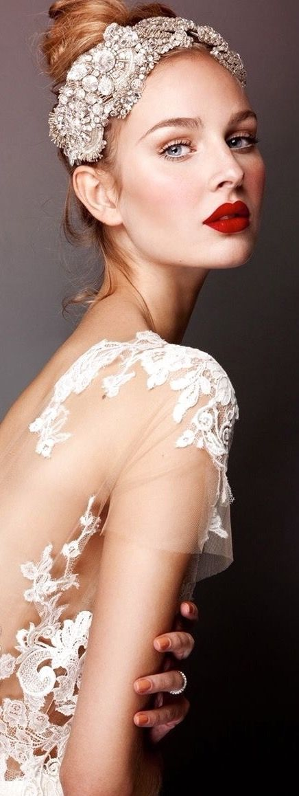 Rosamaria G Frangini   Here Comes The Bride   Wedding Wishes   Chanel Bridal headpiece