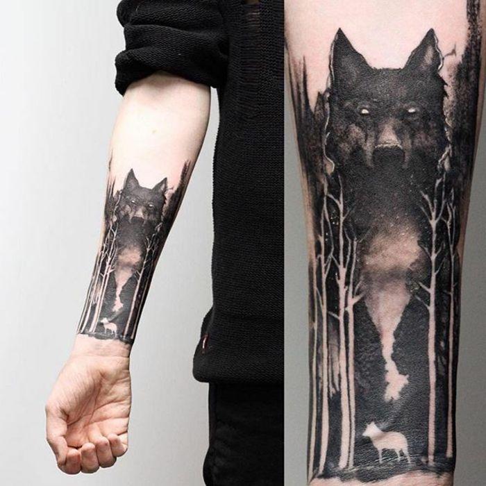 Antebrazo Tatuajes De Lobos