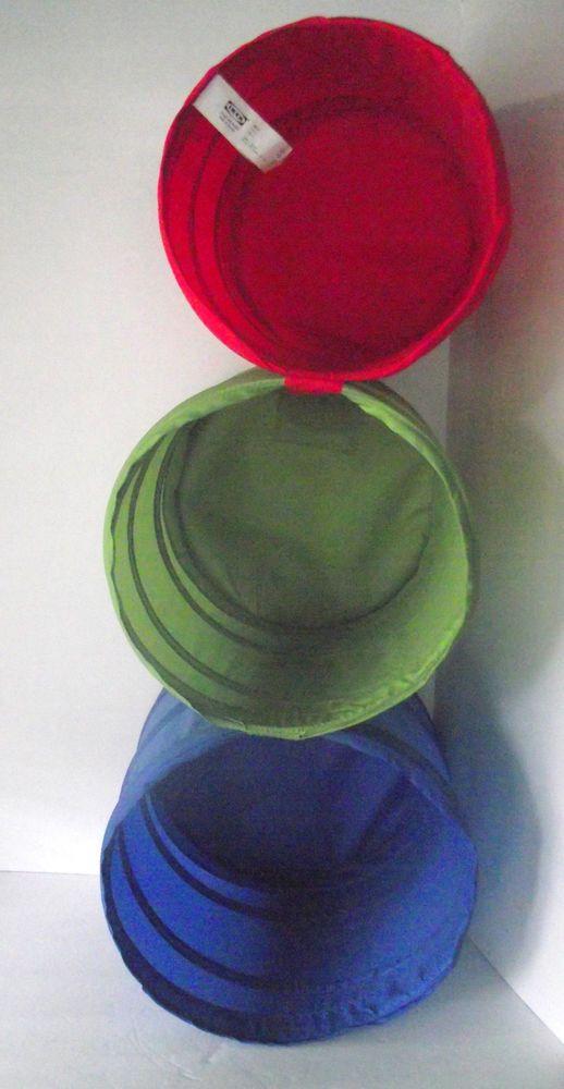 IKEA Storage Bins Baskets 3 Trio Hanging Blue Green Red Towels Toys Kids Noje  #IKEA