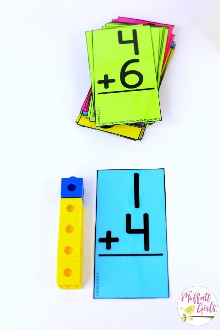 Addition Up to 10. Plus, MORE hands-on addition math centers for ...