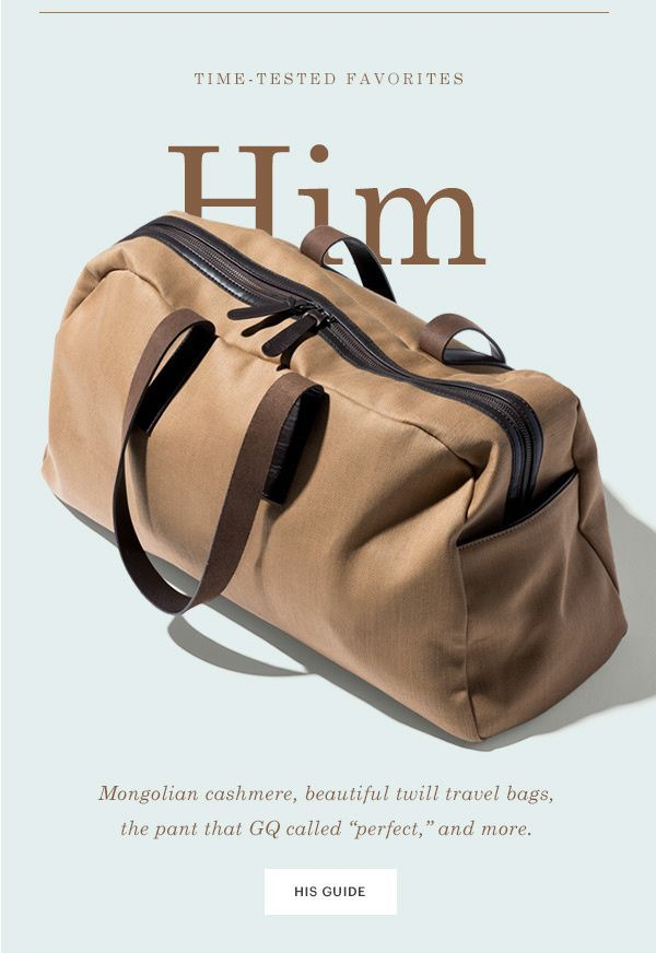 Him Mongolian Cashmere Beautiful Twill Travel Bags The Pant That GQ Called Perfect And More