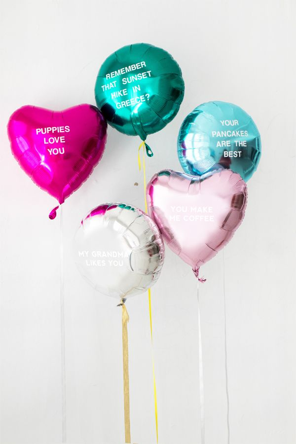 DIY Balloon Poetry Oh Happy Day