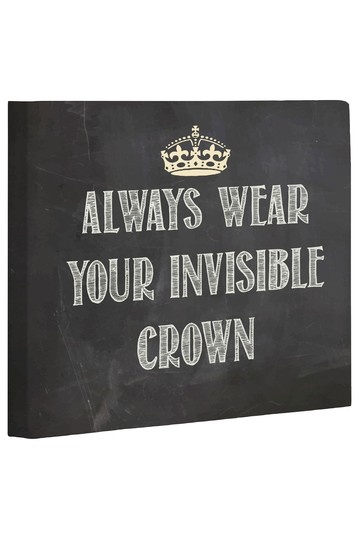 Wear Invisible Crown Chalkboard Wall Decor by Whimsical Art, Totes & Pillows on @HauteLook