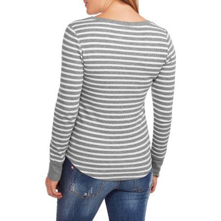 Faded Glory Women's Long Sleeve Thermal Henley - Walmart.com