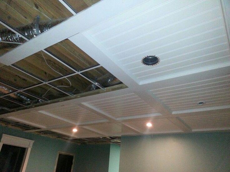 Basement Lighting Recessed Ceiling: Three More Panels Up, Two With Recessed Lights And One For