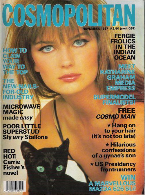 Paulina Porizkova, Cosmopolitan, 1987