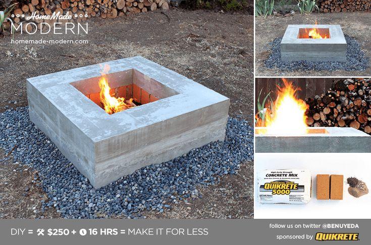 Build A Modern Firepit