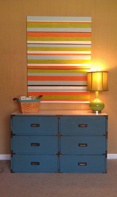 Striped Art Canvas  Tutorial (8)