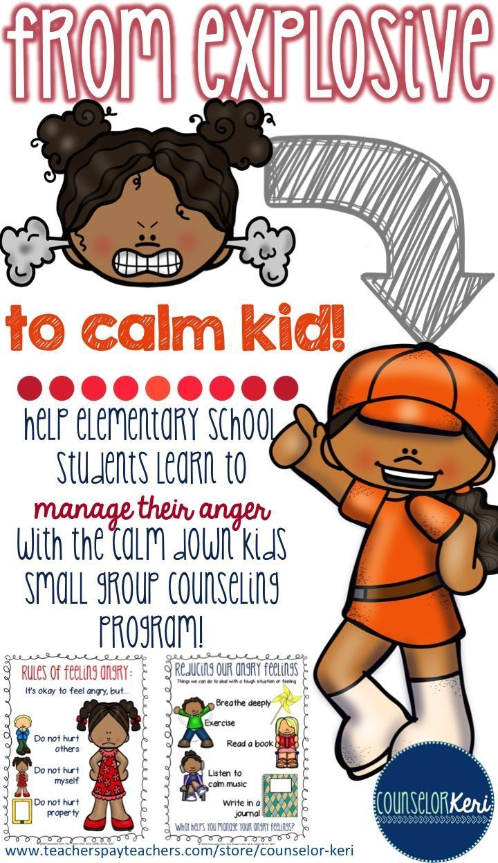 small group counseling program for elementary school students to manage angry feelings! -Counselor Keri