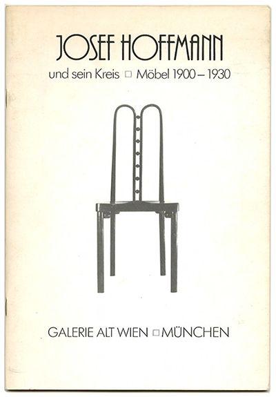 Wolfgang Richter [Editor]: JOSEF HOFFMANN UND SEIN KREIS / MÖBEL 1900 – 1930. München: Galerie Alt Wien, 1980.