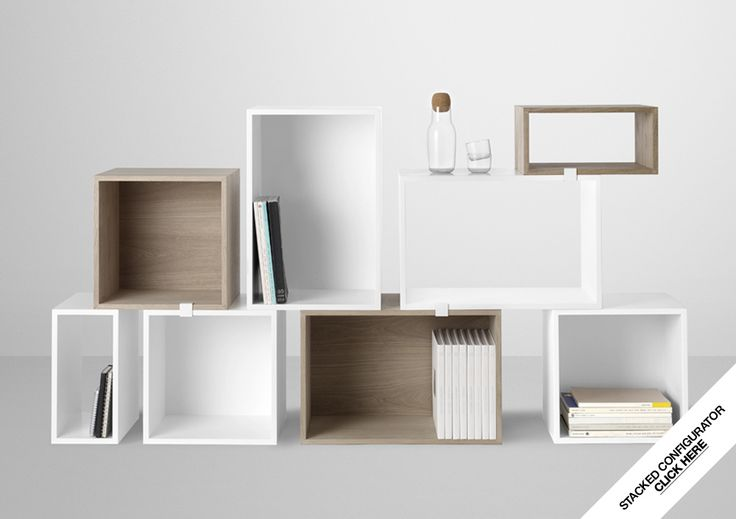 Storage - Stacked Shelf System - Designed by JDS Architects  www.muuto.com www.meijerwonen.com