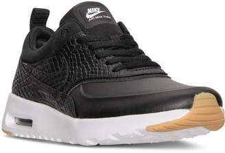 Nike Women's Air Max Thea Premium Running Sneakers from Finish Line #running #nike http://feedproxy.google.com/fashionShoes22