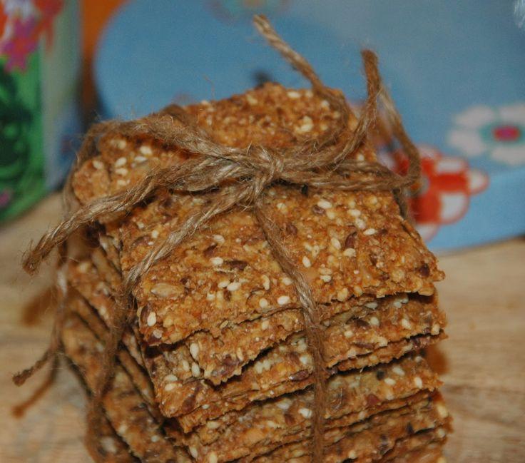 ganske enkelt: Knekkebrød med havregryn og frø