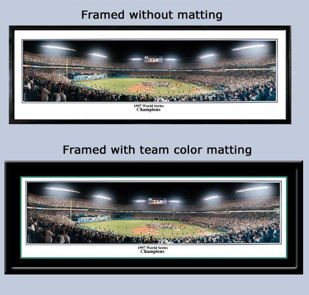 Florida Marlins 1997 World Series Champions Framed Picture