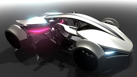 futuristic cars   Futuristic Epine Concept Car was Inspired by Racing Vehicles