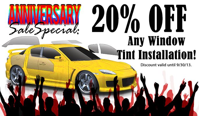 Save 20% on window tint in Sept. 2013