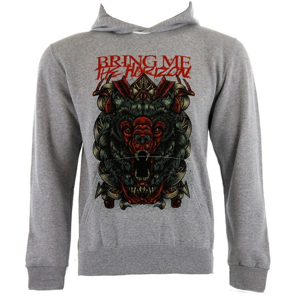 Bring Me The Horizon Arrows Bear hoodie – BMTH merch - band hoodie UK ($68) ❤ liked on Polyvore