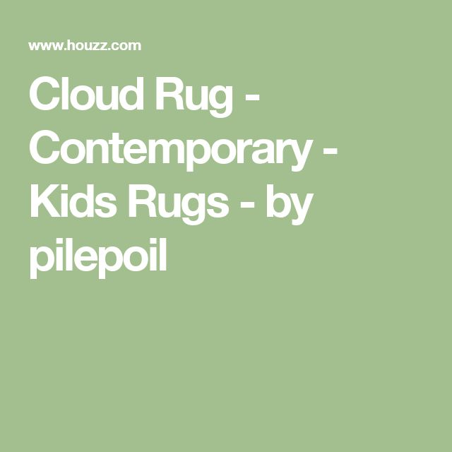 Cloud Rug - Contemporary - Kids Rugs - by pilepoil