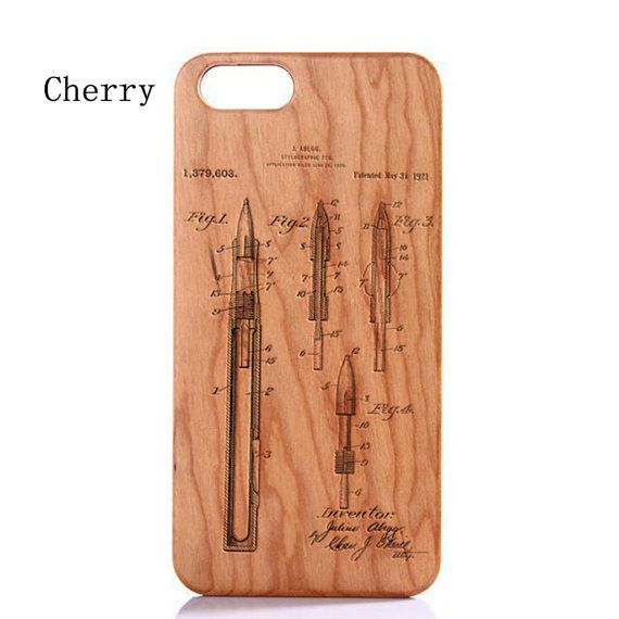 Wood Case For iPhone 6 ,iphone 5/5s Case, Bamboo Wooden iPhone 6 Case, Laser Engraved Genuine Patent Pattern Iphone 6 Plus Wood Case 1379603