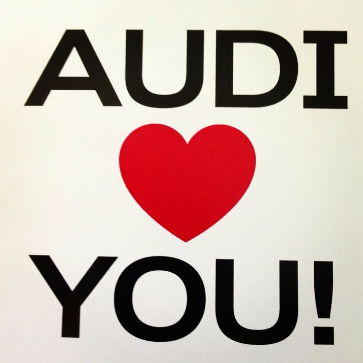 Thank you for your support everyone! #valentinesday << From Audi Australia