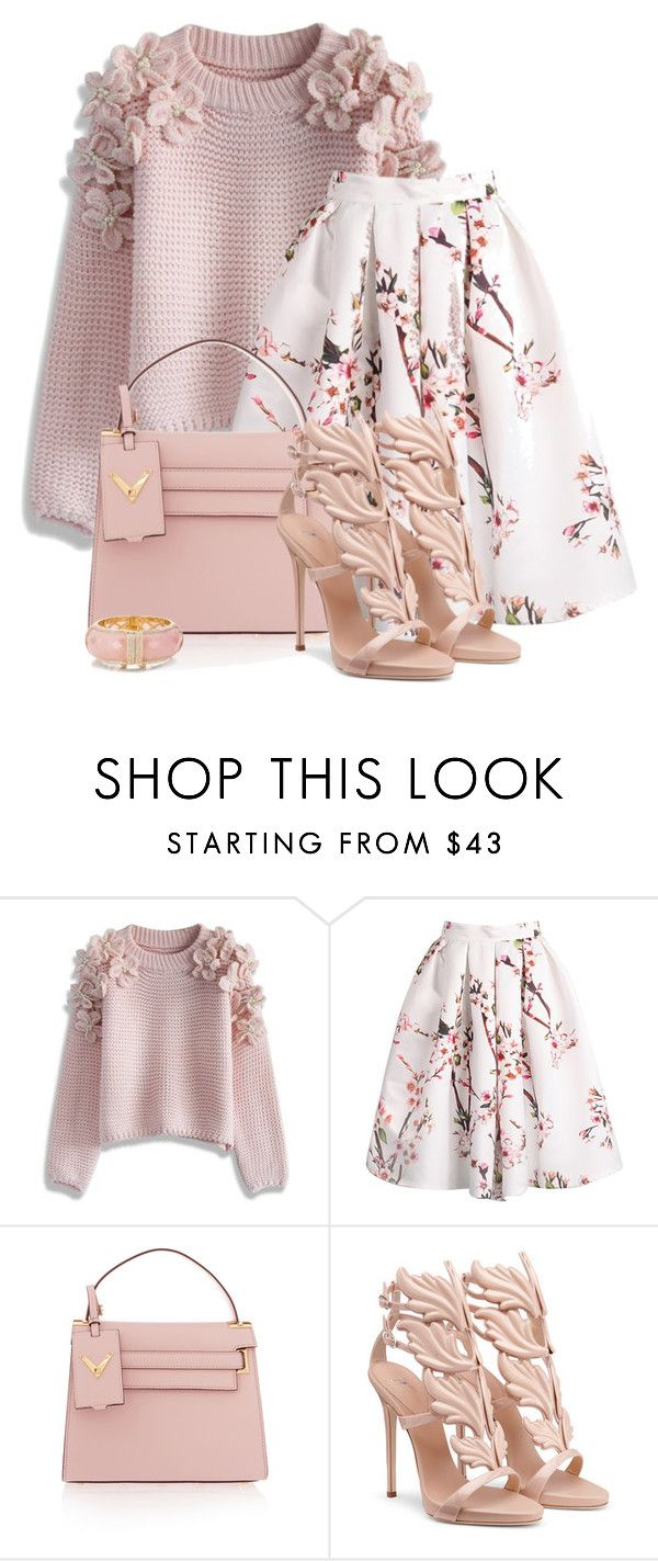 """Untitled #5077"" by barbarapoole ❤ liked on Polyvore featuring Chicwish, Valentino and Kate Spade"