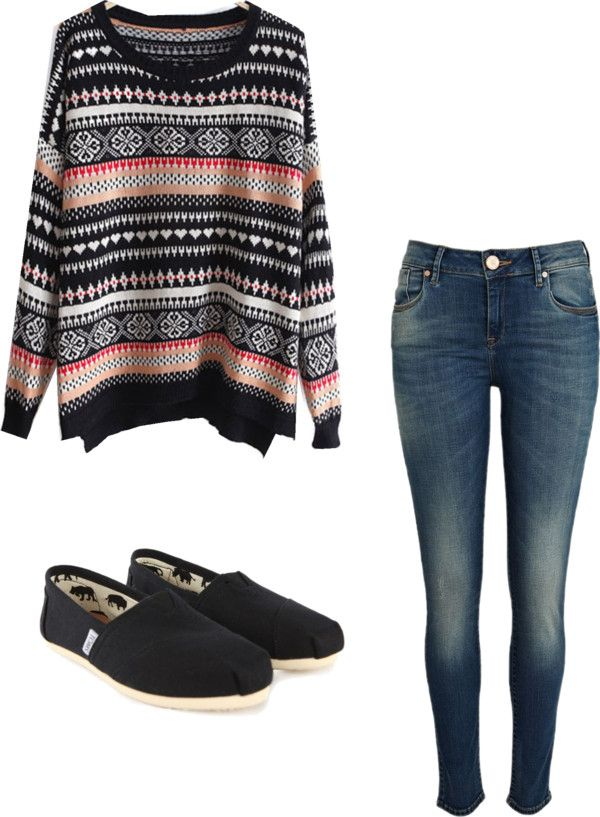 U0026quot;Oversized Sweateru0026quot; by alyssakrause on Polyvore Clothes Casual Outift for u2022 teens u2022 movies ...
