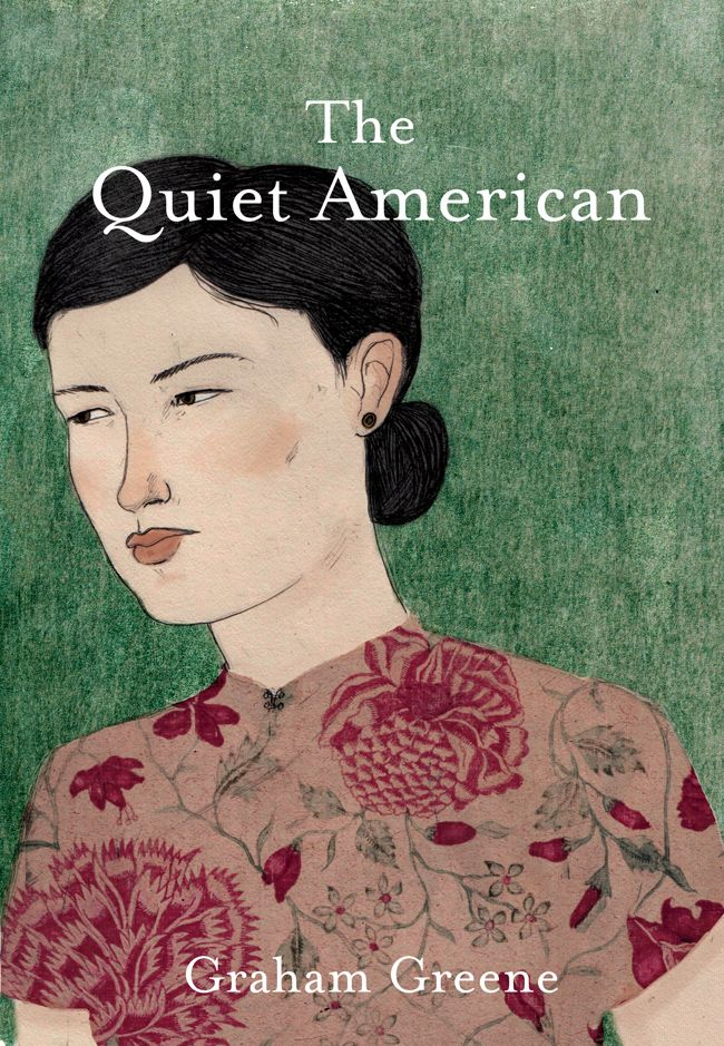 """The Quiet American"" by Graham Greene. Cover illustration by Lizzy Stewart"