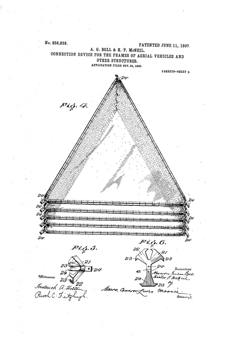 Patent US856838 - Connection device for the frames of aerial vehicles and other structures. - Google Patents
