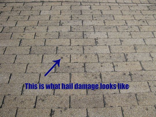 Hail Damage Hailstorm Damage Claims Pinterest