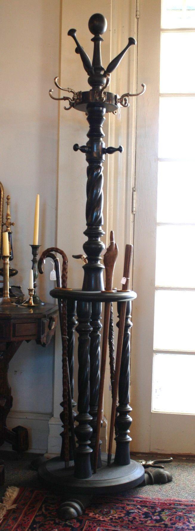 Hall Tree Coat Rack iron antique | Antique Coat Tree For Sale | Antiques.com…
