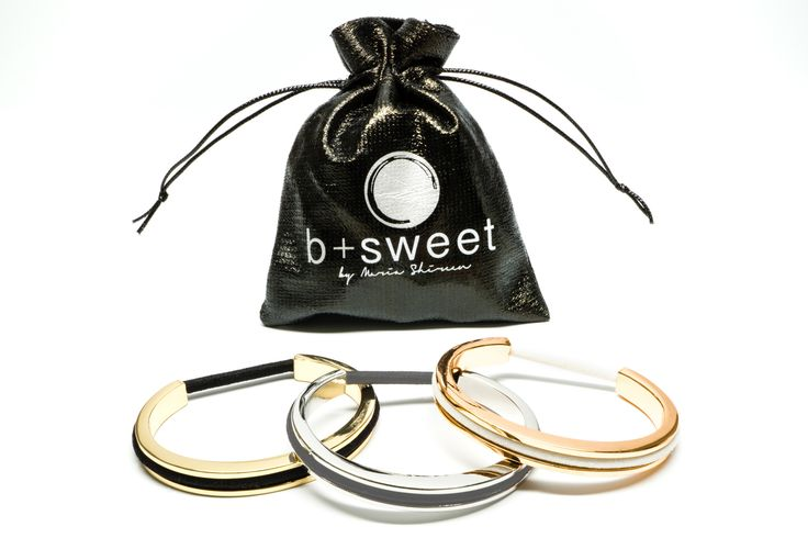 Hair tie bracelet set for Tweens featuring a silver, gold, and rose gold hair tie bracelet. Made from PBA free plastic!
