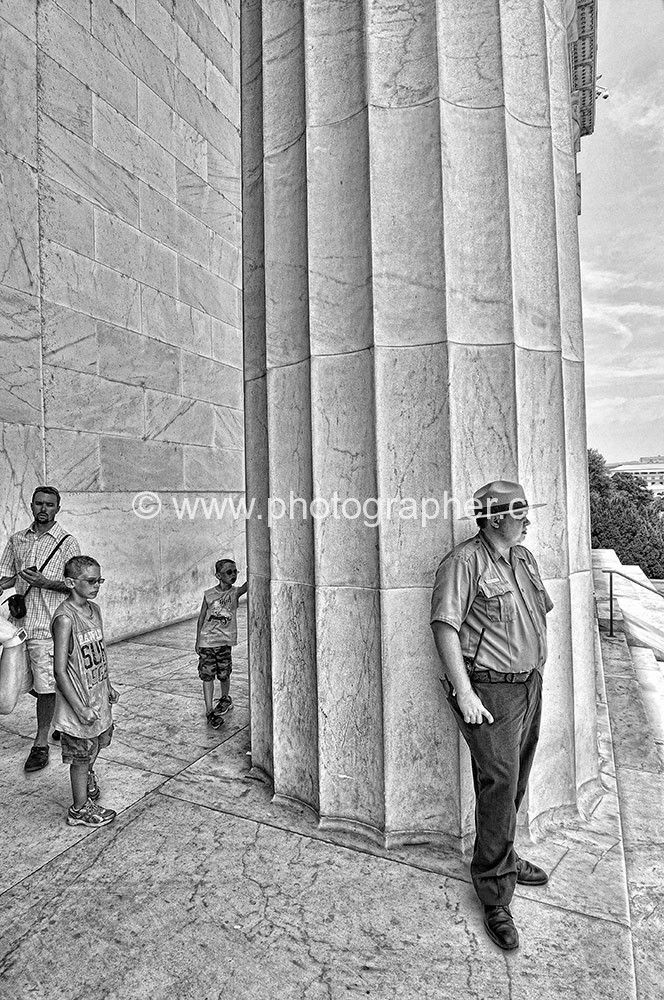 Lincoln memorial columns guardian Washington DC 2012