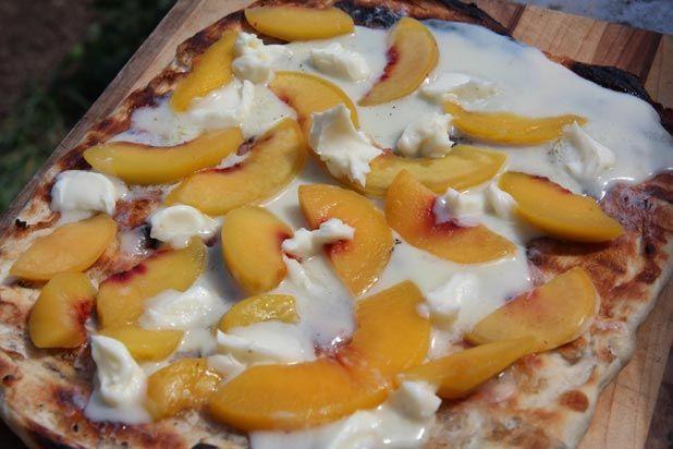 Grilled Peach Pizza Recipe