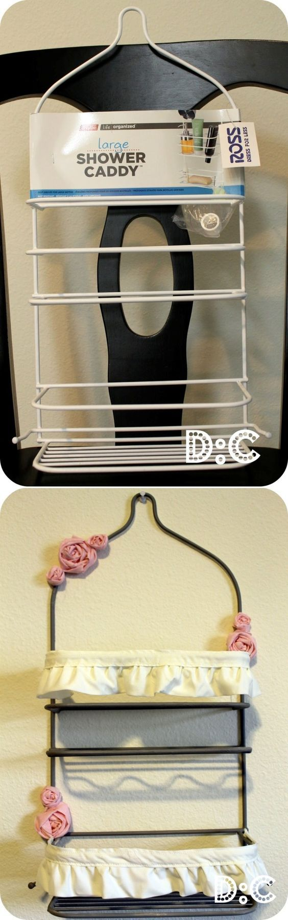 Rossette Shower Caddy Storage. This would be cute for mail or books!