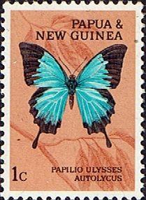 Papúa Nueva Guinea 1966 Mariposas SG 82 Fine Mint Scott 209 Otros Sellos de la Comunidad Europea y de la Comunidad Británica