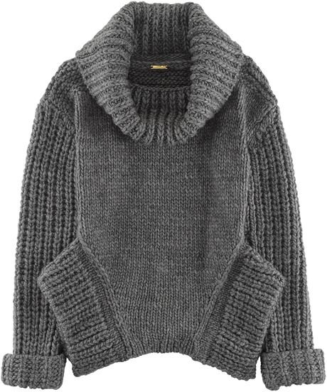 Rebecca Minkoff Gray Chunky Slouchy Pullover