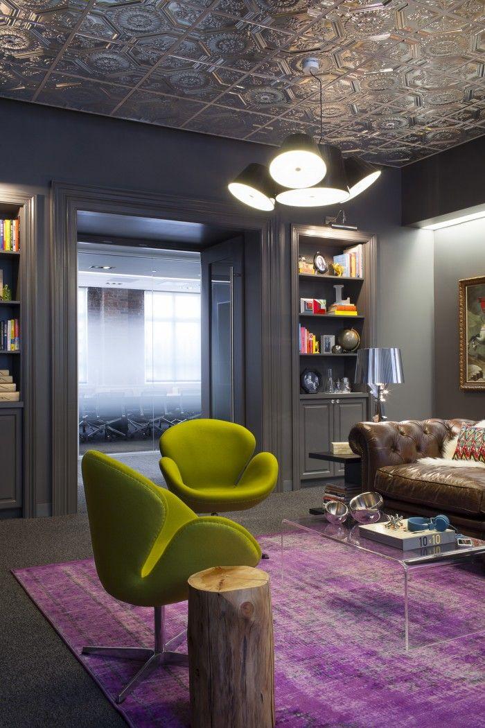 Salita muy cool en las oficinas de Lithium en San Francisco, creo que lo que más me gusta es el techo... y el sofá
