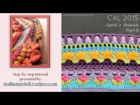 Step-by-step instructions for Sophie's Universe part 9. This video is made with permission of Dedri Uys, the designer of Sophie's Universe. The pattern can b...