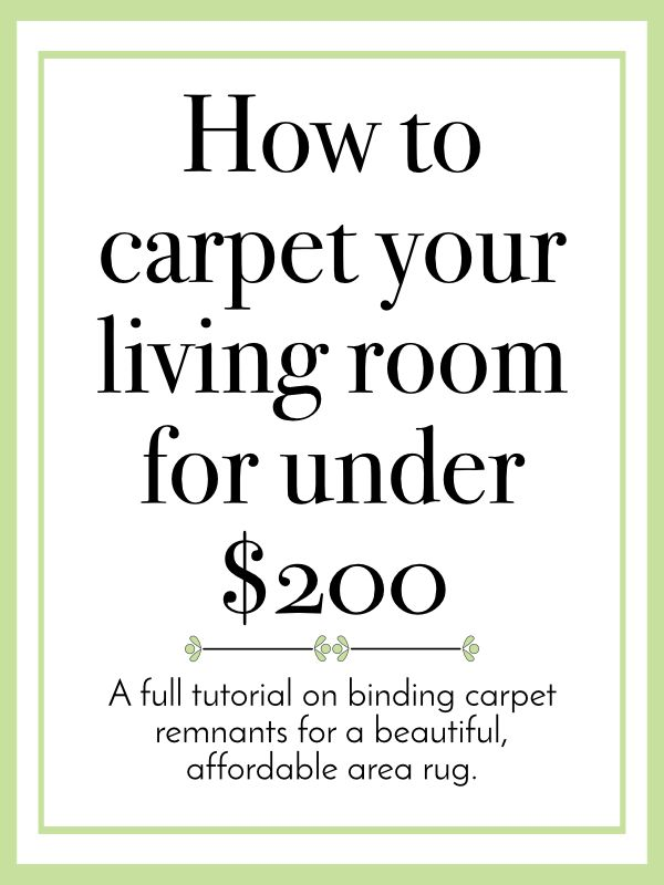 A tutorial on how to bind a rug, this allows you to make your own area rug for way less than buying an area rug.