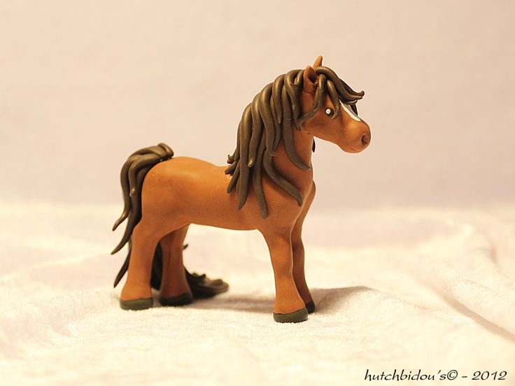 Horse in polymer clay by *AnimalisCreations on deviantART