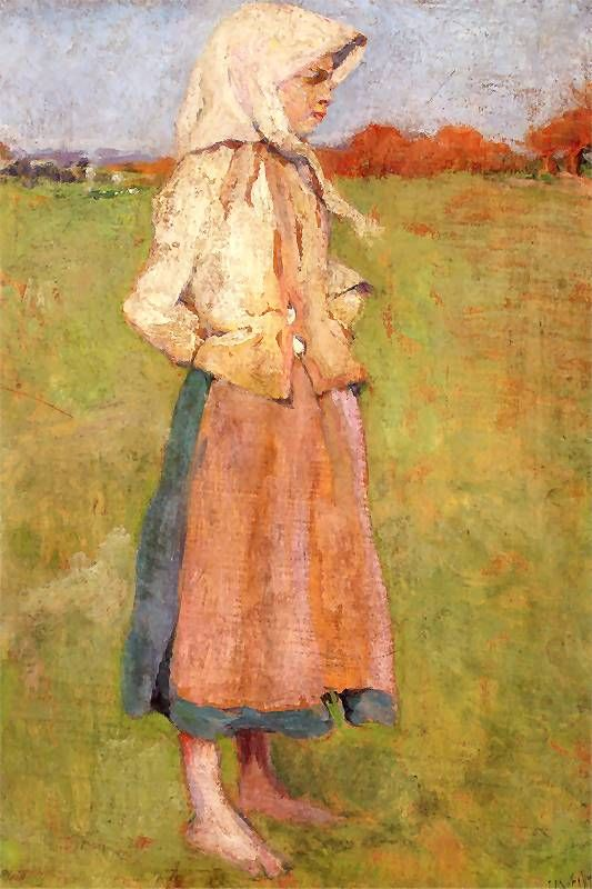 Peasant Girl (Józef Mehoffer - 1894)