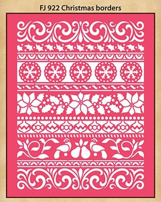 "Christmas Borders - $5.99 Dreamweaver Stencils Embossing Folders - 4 1/8"" x 5 5/8"""