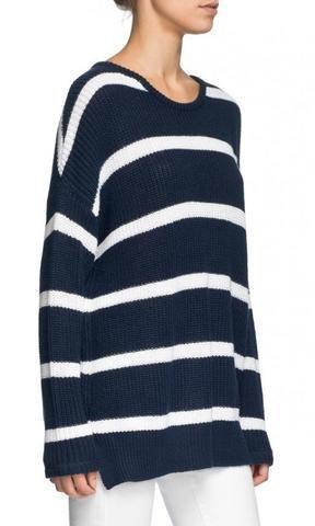 Elwood Jackson Knit Navy Stripe
