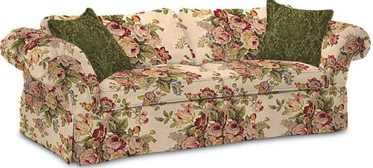 Old Fashioned Fl Couch Etsy Flowered Couches