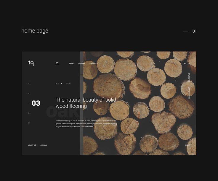 TQ shop website concept on Behance