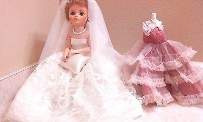 Vintage Uneeda Dollikin 2s 19 Quot Doll With Wedding Dress
