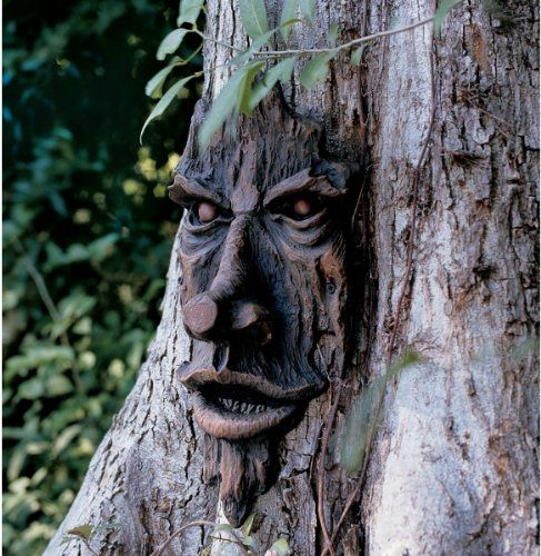 The Spirit Of Nottingham Woods: Greenman Tree Sculpture, 2015 Amazon Top Rated Outdoor Statues #Lawn&Patio